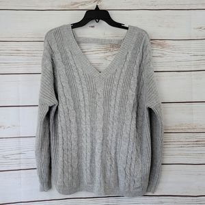 Pins & Needles | Cable Knit Open Back Oversized